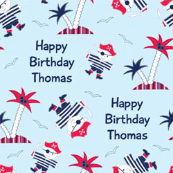 treasure island wrapping paper