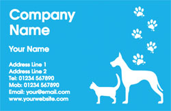cat and dog business cards