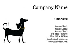 posh dog business cards