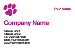 pink paw business cards