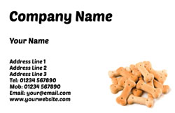 dog biscuits business cards