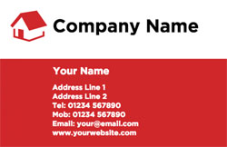 red house business cards