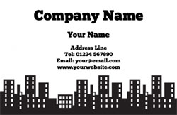 office blocks business cards