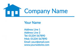 blue house business cards