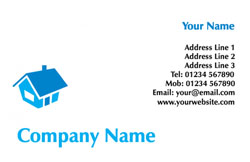blue roof business cards