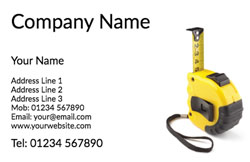yellow tape measure business cards