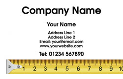 measuring tape business cards