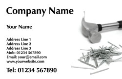 hammer and nails business cards