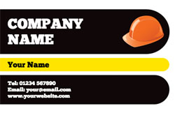 hard hat business cards