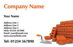 bricklaying business cards