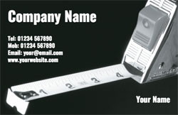 tape measure business cards