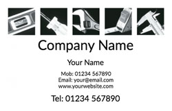 black and white tools business cards