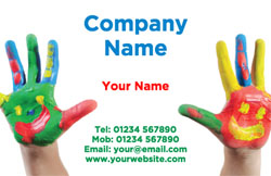 painted hands business cards
