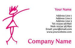 pink girl business cards