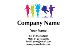 children playing business cards