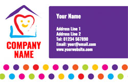 heart and house business cards