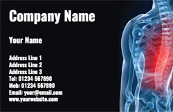 back pain business cards