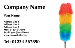 feather duster business cards