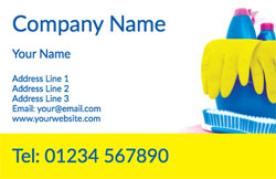 yellow cleaning gloves business cards