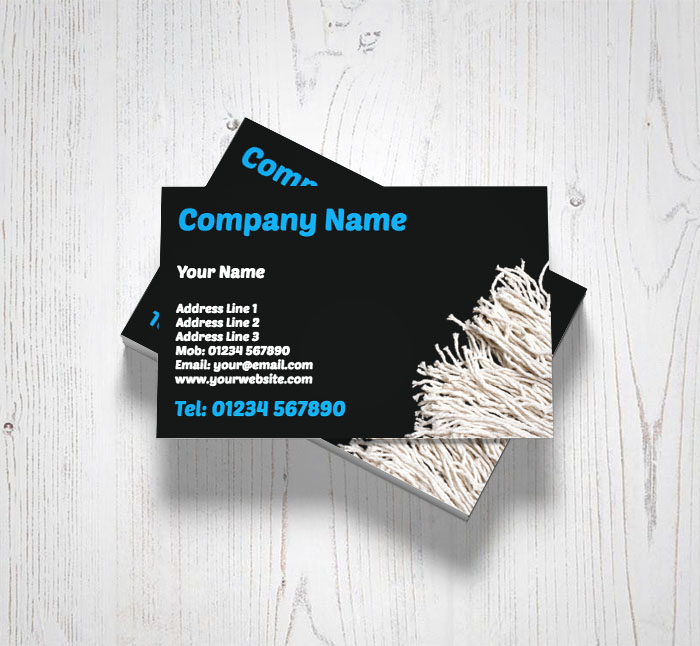 Floor mop business cards customise online plus free delivery floor mop business cards reheart Image collections
