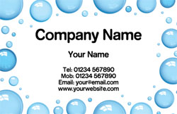 cleaning bubbles business cards