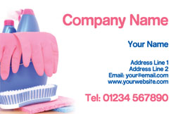 pink cleaning gloves business cards