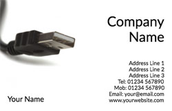 USB cable business cards