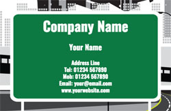 road sign business cards