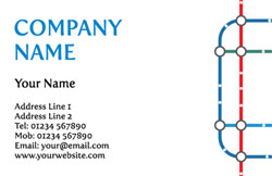 tube stop business cards