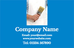 man with paintbrush business cards