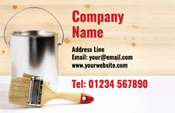 paint tin and brush business cards