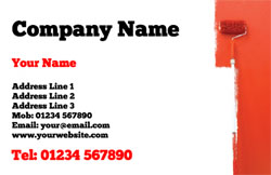 painting wall red business cards