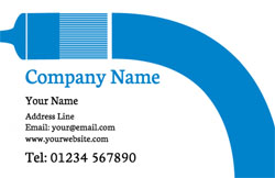blue paintbrush business cards