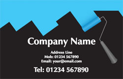 blue paint roller business cards