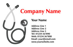stethoscope business cards