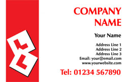 L plate business cards
