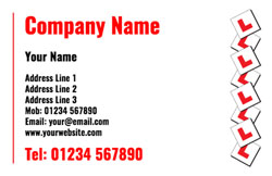 cascading L plates business cards