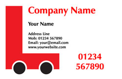 L plate car business cards