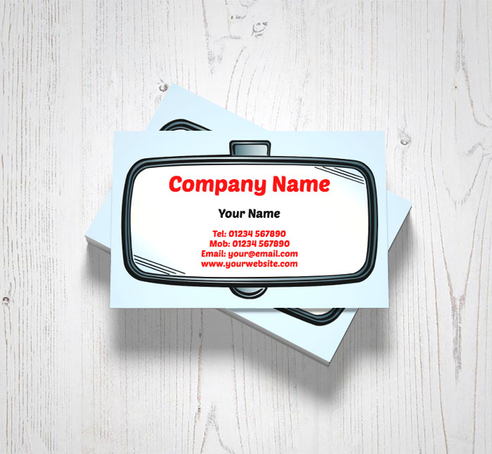 rear view mirror business cards