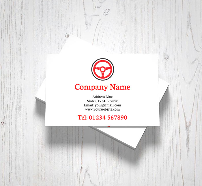 Steering wheel business cards customise online plus free delivery steering wheel business cards reheart Image collections