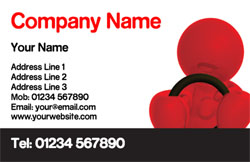 red and black driving business cards