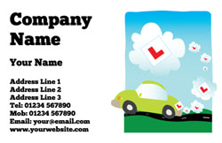 L plate clouds business cards
