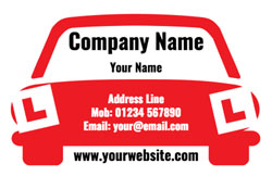 learner car business cards