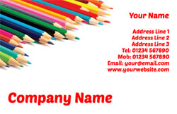 colouring pencils business cards