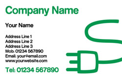 green plug business cards