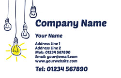 hanging light bulb business cards