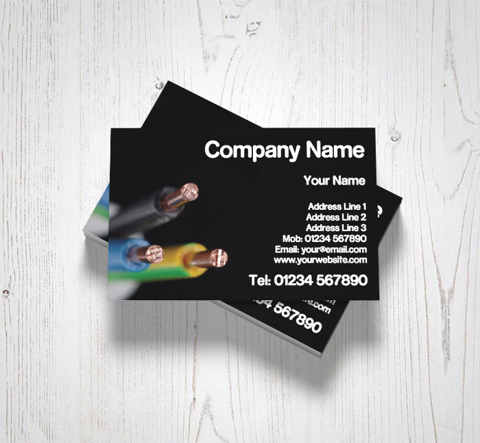 Electrical cable business cards customise online plus free electrical cable business cards reheart Gallery
