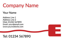 e for electrician business cards