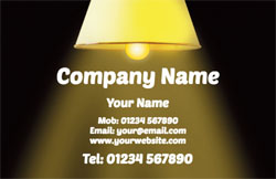 lights on business cards