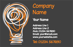scribble light bulb business cards